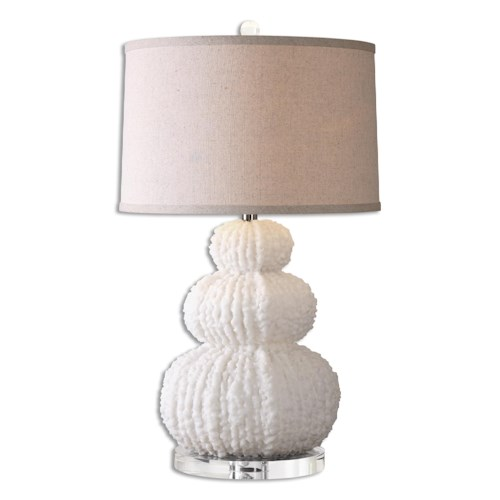 Uttermost Lamps Fontanne Shell Ivory Table Lamp