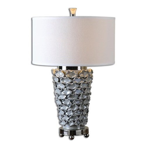 Uttermost Lamps Petalo Pearl Gray Table Lamp
