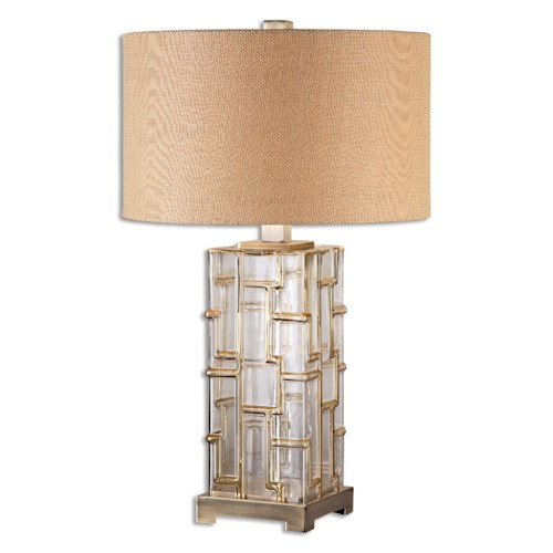 Uttermost Lamps Coburn Amber Glass Table Lamp