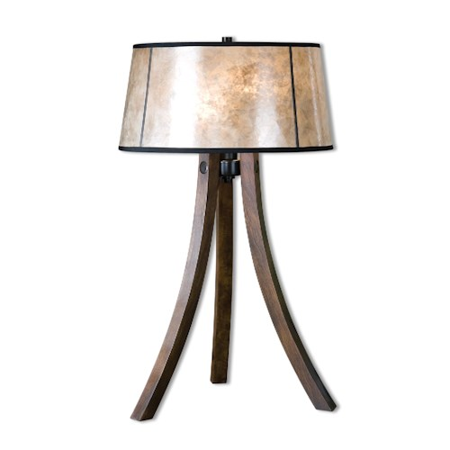 Uttermost Lamps Maloy Wood Legs Table Lamp