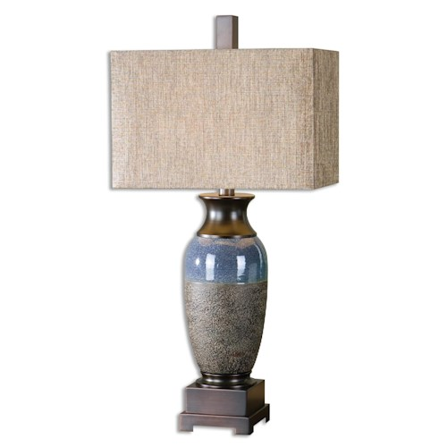 Uttermost Lamps Antonito Textured Ceramic Table Lamp