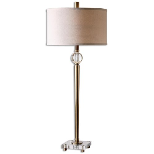 Uttermost Lamps Mesita Brass Buffet Lamp