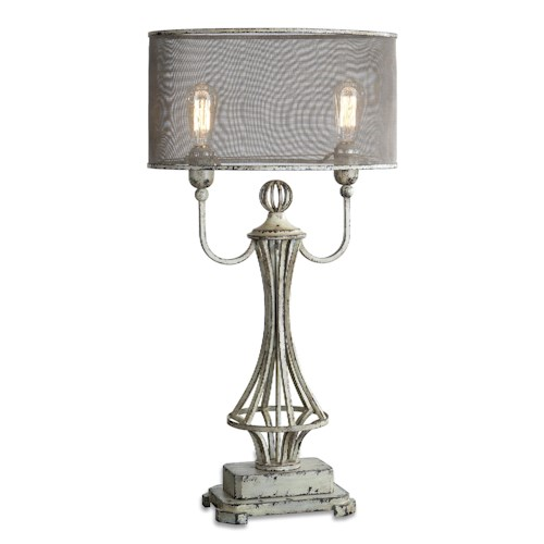 Uttermost Lamps Pontoise Aged Ivory Table Lamp