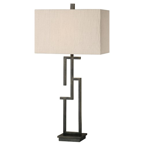 Uttermost Lamps Demer Forged Metal Lamp