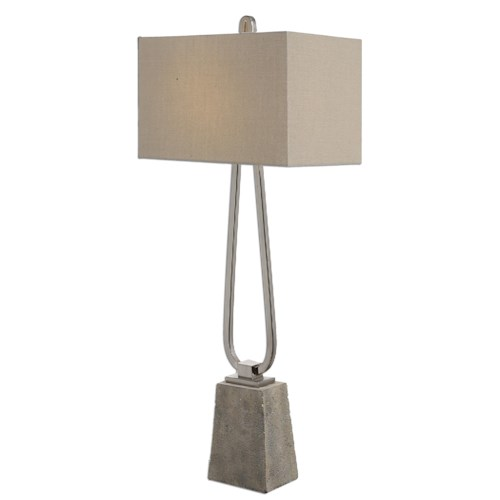 Uttermost Lamps Carugo Polished Nickel Lamp