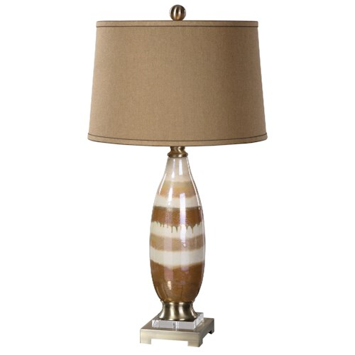 Uttermost Lamps Albiolo Ivory Ceramic Lamp