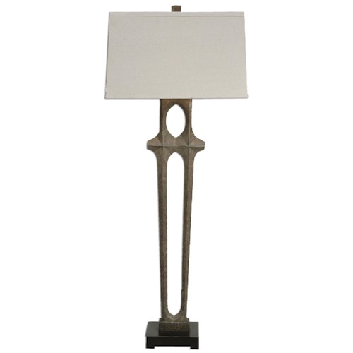 Uttermost Lamps Daugava Rust Brown Floor Lamp