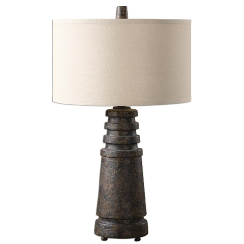 Uttermost Lamps Topeka Distressed Rust Lamp