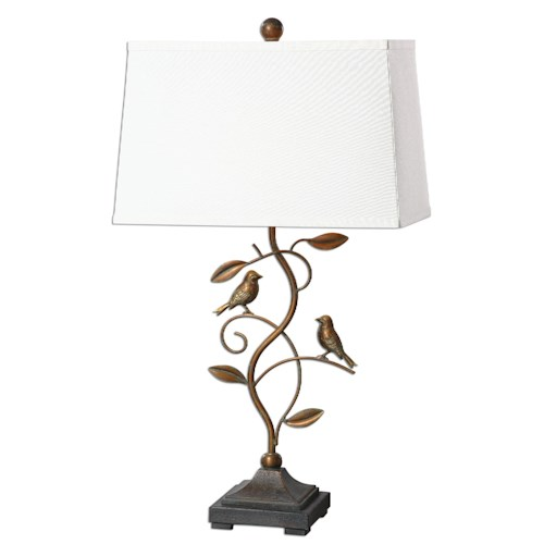 Uttermost Lamps Leta Forged Metal Lamp