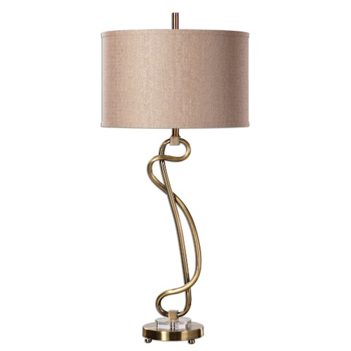 Uttermost Lamps Shalin Brushed Brass Lamp