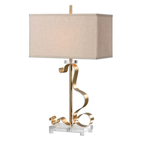 Uttermost Lamps Camarena Bright Gold Lamp