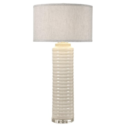 Uttermost Lamps Yana Ribbed Cylinder Lamp