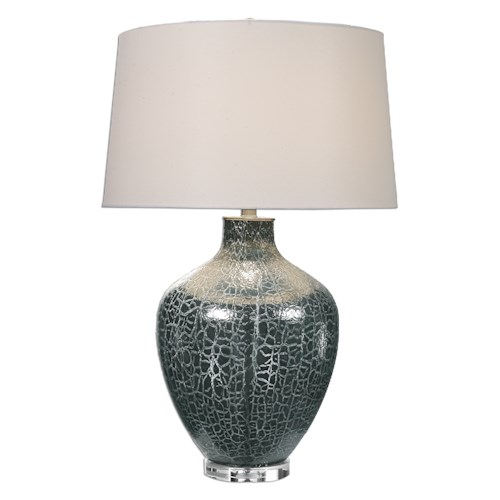 Uttermost Lamps Zumpano Crackled Gray Table Lamp