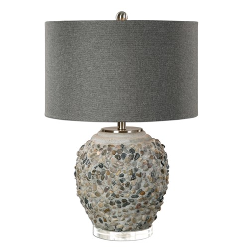 Uttermost Lamps Carrabelle Layered Stones Lamp