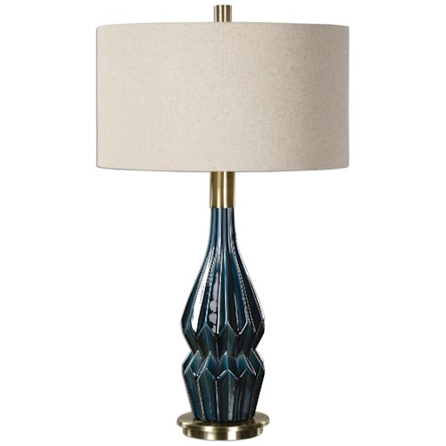 Uttermost Lamps Prussian Blue Ceramic Lamp