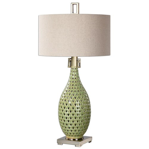 Uttermost Lamps Chamoru Green Glaze Lamp