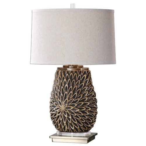 Uttermost Lamps Verzino Beige Dark Rust Lamp