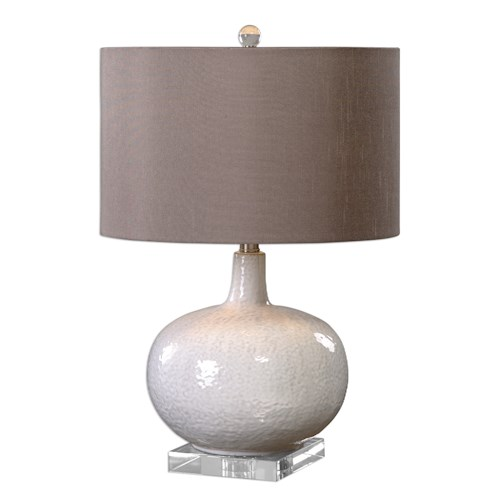 Uttermost Lamps Parvati White Glaze Table Lamp