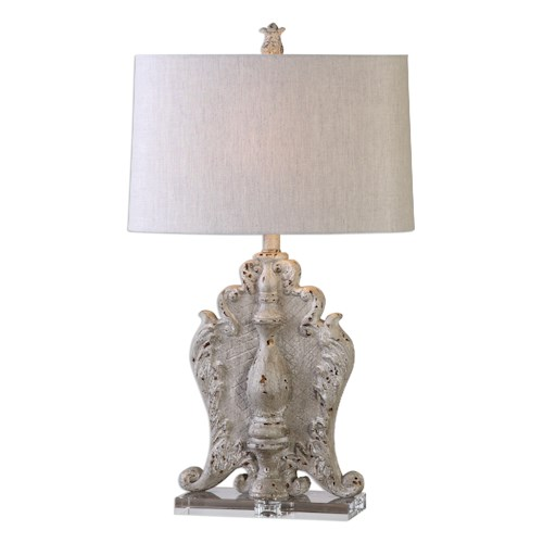 Uttermost Lamps Triversa Distressed Table Lamp