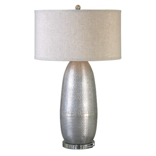 Uttermost Lamps Tartaro Industrial Silver Table Lamp