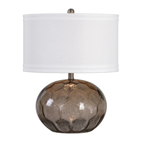 Uttermost Lamps Jasperse Amber Glass Lamp