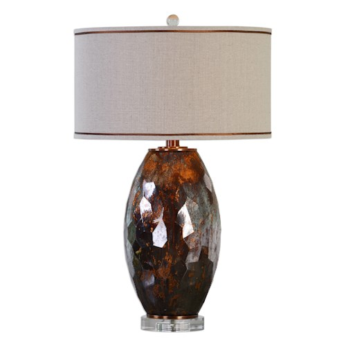 Uttermost Lamps Sabastian Bronze Glass Table Lamp