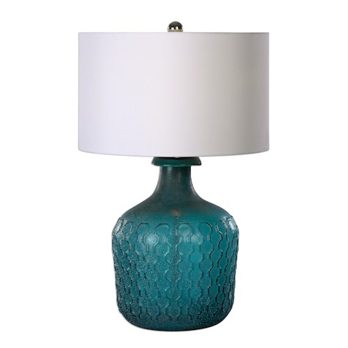 Uttermost Lamps Laval Blue Glass Table Lamp