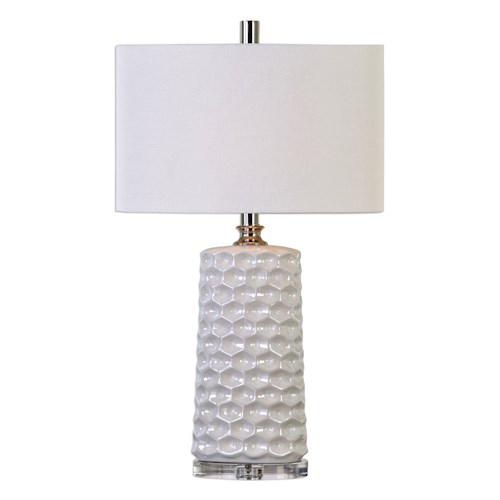 Uttermost Lamps Sesia White Honeycomb Table Lamp