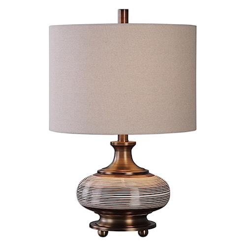 Uttermost Lamps Strona Bronze Ceramic Lamp