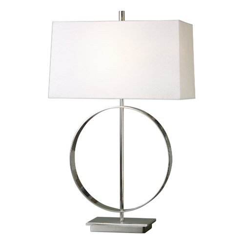Uttermost Lamps Addison Polished Nickel Lamp