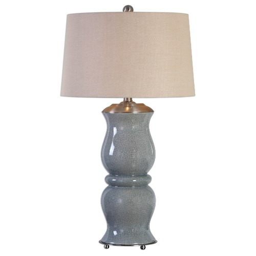 Uttermost Lamps Cannobino Pale Blue Table Lamp