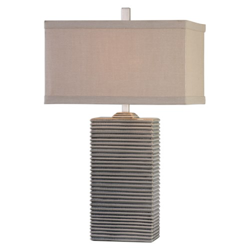 Uttermost Lamps Whittaker Pale Blue Ceramic Lamp