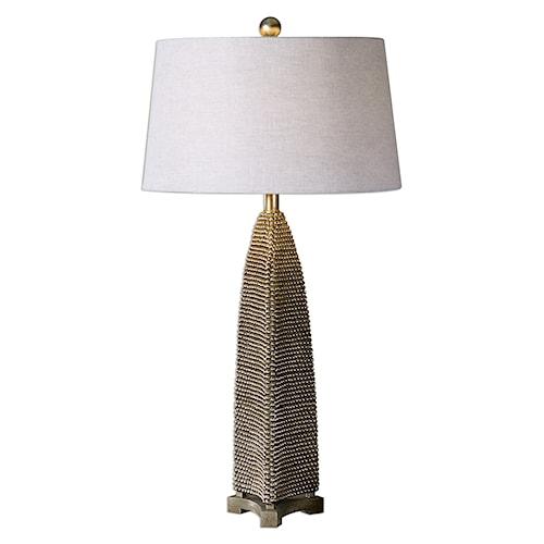 Uttermost Lamps Kolva Antiqued Silver Table Lamp