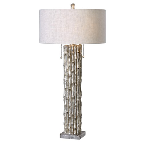 Uttermost Lamps Silver Bamboo Table Lamp