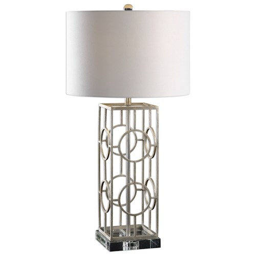 Uttermost Lamps Mezen Silver Table Lamp