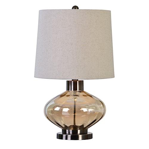 Uttermost Lamps Sava Amber Glass Lamp