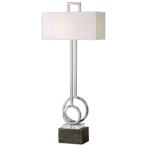 Uttermost Lamps Deshka Brushed Nickel Table Lamp