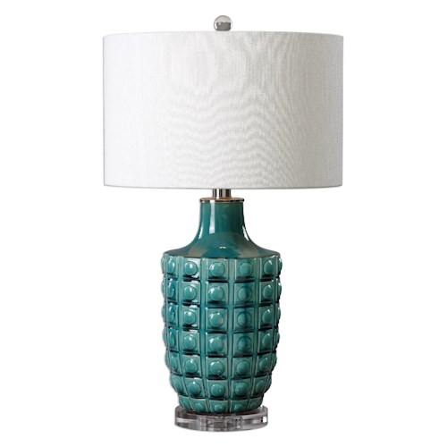 Uttermost Lamps Monferrato Smoke Blue Table Lamp