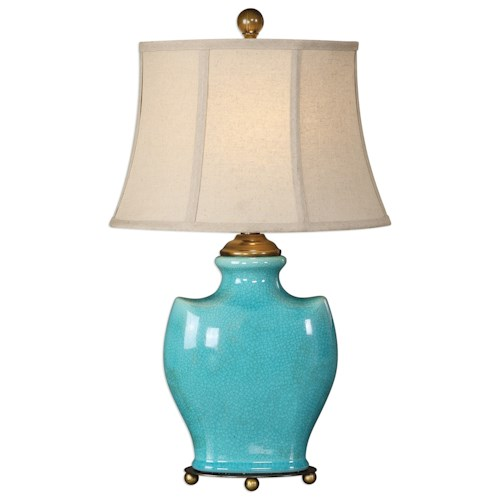 Uttermost Lamps  Solana Antique Light Blue Lamp