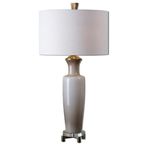 Uttermost Lamps Consuela Taupe Gray Glass Table Lamp