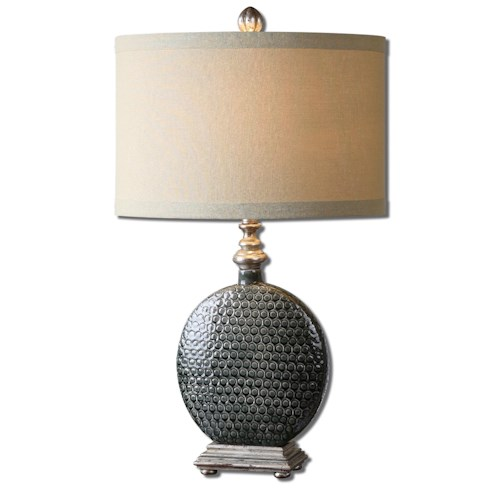 Uttermost Lamps Salinger Gray Ceramic Table Lamp