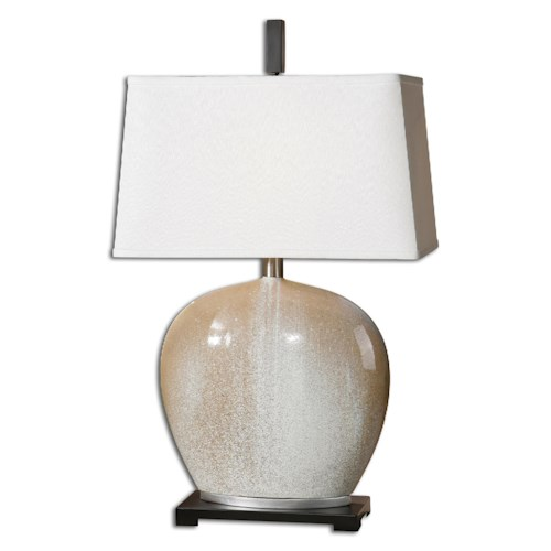 Uttermost Lamps Baycliff Beige Ceramic Table Lamp