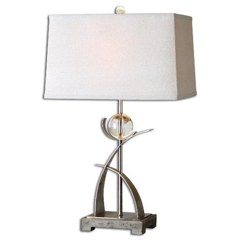 Uttermost Lamps Cortlandt Curved Metal Table Lamp