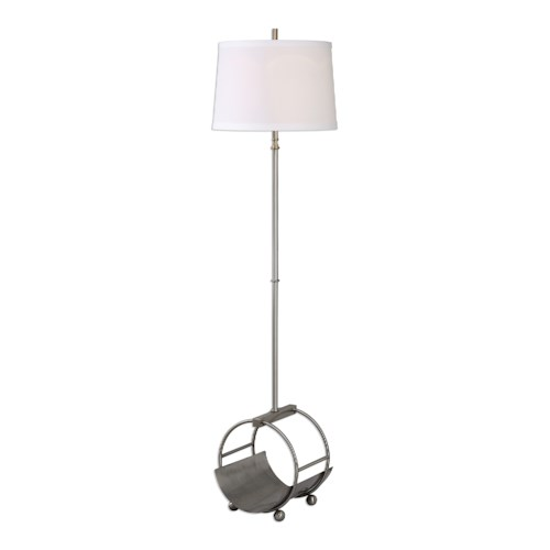 Uttermost Lamps Loutre Brushed Nickel Floor Lamp
