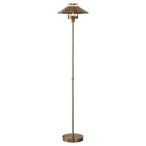 Uttermost Lamps Albaretto Brushed Brass Floor Lamp