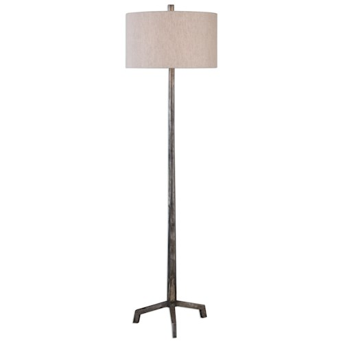Uttermost Lamps  Ivor Cast Iron Floor Lamp