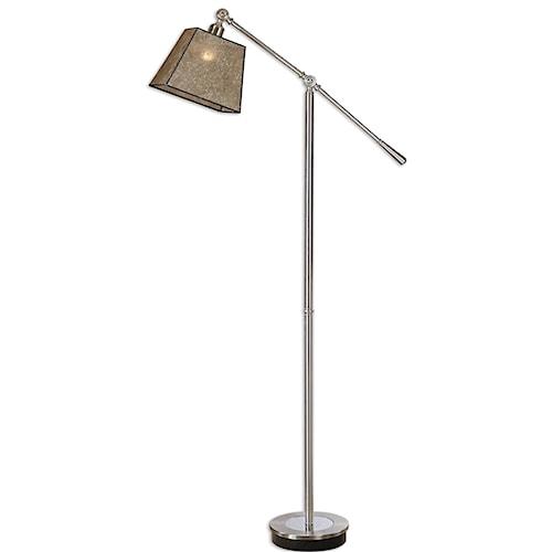 Uttermost Lamps Biella Chrome Floor Lamp