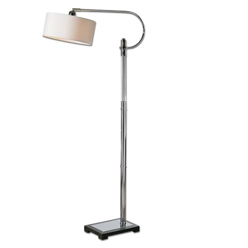 Uttermost Lamps Adara Glass & Chrome Floor Lamp