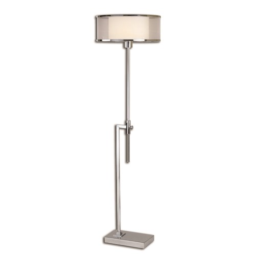 Uttermost Lamps Duarte Nickel-Plated Floor Lamp