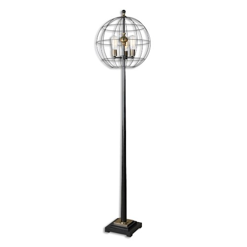Uttermost Lamps Palla Round Cage Floor Lamp